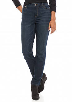 New Directions Weekend Petite Slim Straight Jeans