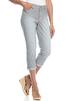 New Directions Weekend Embellished Wide Cuff Jean Capri