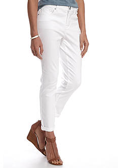 New Directions Weekend Roll Cuff Twill Ankle Pant