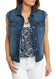 New Directions Weekend Sleeveless Denim Vest