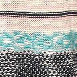 Juniors: Cardigan Sale: Oatmeal/Jade/Navy Co Pink Rose Stripe Printed Cardigan