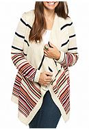 Pink Rose Plus Size Long Sleeved Multi-Striped
