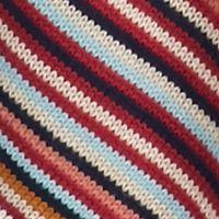 Juniors: Cardigan Sale: Oatmeal/Mocha Marled Pink Rose Multi Striped Flyaway Cardigan
