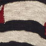Juniors: Cardigan Sale: Hemp Seed/Black/Canary Pink Rose Aztec Stripe Cardigan