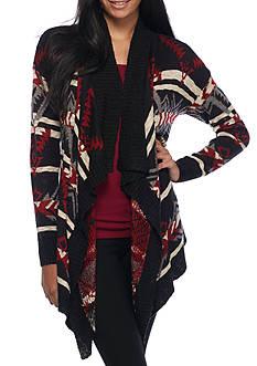 Pink Rose Aztec Stripe Cardigan