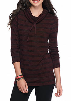Pink Rose Striped Knit pullover