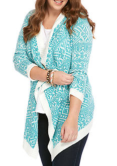 Pink Rose Plus Size Flyaway Cardigan