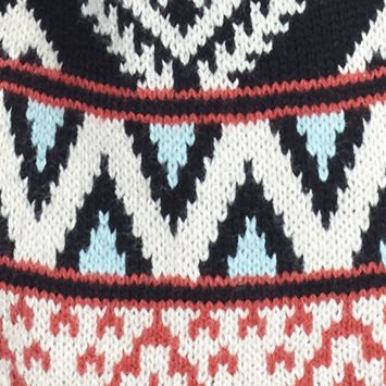 Gifts for Juniors: Gifts Under $25: Black/Oatmeal/Red Combo Pink Rose Aztec Border Print Flyaway Cardigan
