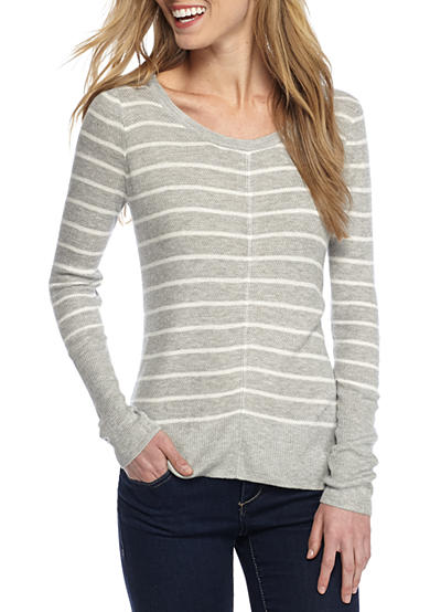Pink Rose Stripe Pullover Sweater