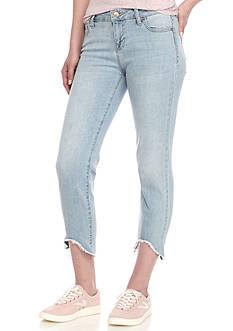 Celebrity Pink High Low Fray Hem Skinny Jeans