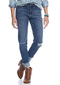 Celebrity Pink Destructed Fray Hem Jeans
