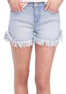 Celebrity Pink Hi Rise 3 Flip Fray Cuff Shorts
