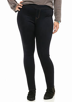 Celebrity Pink Plus Size Pull-On Black Skinny Jeans