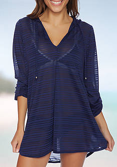 Nautica Hooded Tunic Swim Cover Up