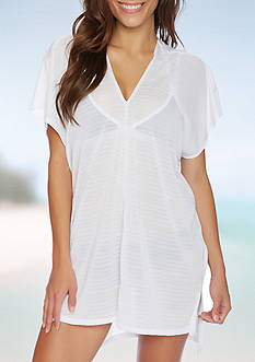 Nautica V Neck Dress Swim Cover Up