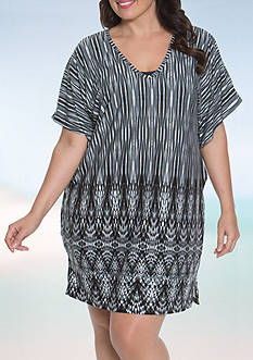 Dotti Plus Size Gypsy Dance Tunic Swim Cover Up