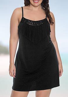 Dotti Plus Size Summer Sunset Tank Dress Swim Cover Up