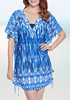 Dotti Ikat Goddess Flutter Tunic Swim Cover Up