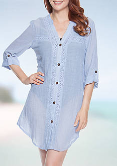 Dotti Shirt Dress Cover Up