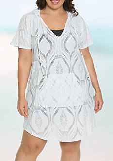 Dotti Plus Size Getting Groovy Hoodie Swim Cover Up