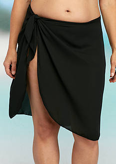Dotti Plus Size Sarong Along Short Pareo Cover Up