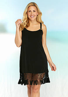 Dotti Plus Size Tropic Twirl Fringe Dress