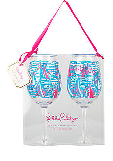 Lilly Pulitzer Acrylic Wine Glasses