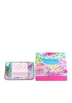 Lilly Pulitzer Soap & Tray Set