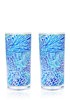 Lilly Pulitzer Hiball Glasses
