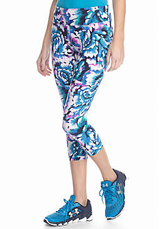 Calvin Klein Performance Printed Ruched Crop Leggings