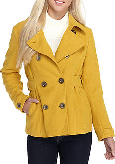 Inspired Hearts Double Button Peacoat