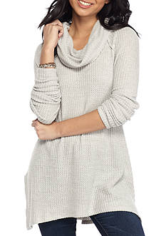 Inspired Hearts Brushed Waffle Cowl Tunic