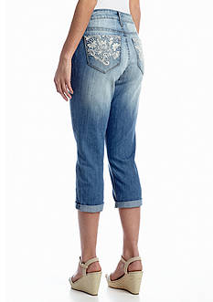 New Directions® Weekend Lace Pocket Jean Capri
