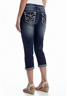 New Directions® Weekend Embroidered Clover Pocket Capri Pant