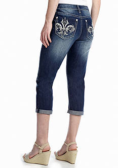 New Directions® Weekend Fleur De Lis Pocket Jean