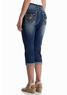 New Directions® Weekend Cross Embellished Pocket Capri