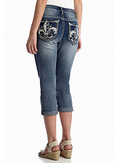 New Directions® Weekend Fleur De Lis Pocket Capri