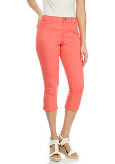 New Directions® Weekend Embellished Twill Capri