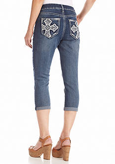 New Directions® Weekend Bling Cross Jean Capris