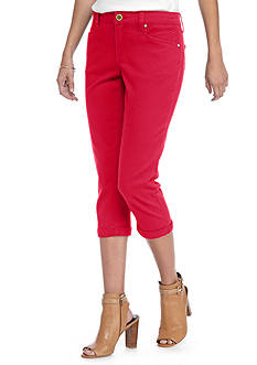 New Directions Weekend Colored Twill Capri