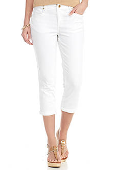 New Directions Twill Crop Pants