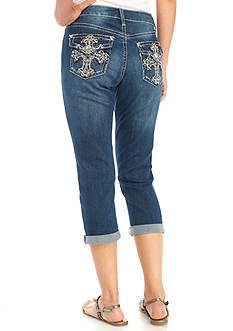 New Directions® Weekend Flap Pocket Cropped Denim Jean