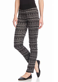 New Directions® Aztec Printed Ponte Pants