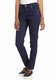 New Directions® Weekend Solid Twill Pants