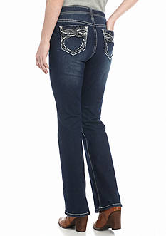 New Directions Weekend Embroidered Shaper Jeans