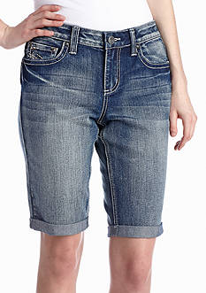 New Directions® Weekend Embroidered Stitch Jean Short