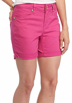 New Directions® Weekend Embellished Twill Cuff 5-in. Shorts
