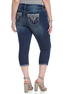 New Directions® Weekend Plus Size Crop Chandelier Pants