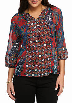 New Directions® Petite Size Peasant Blouse