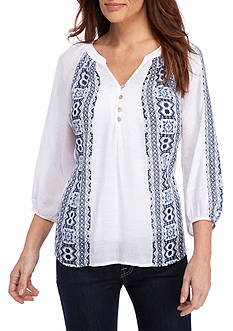 New Directions® Printed Lela Blouse